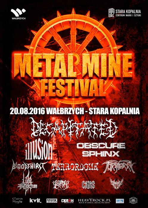 Plakat Metal Mine Festival 2016
